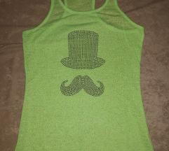 Zelena majica sa cirkonima