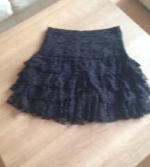 Crna čipkana suknja, Hm, 40