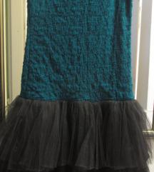 Uska streč haljina sa karnerima od tila