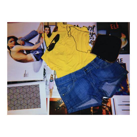 Žuta majica bez rukava; vel. M-L