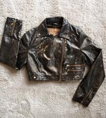 Kozna jaknica u bakarnoj boji (kao nova)