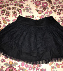 Crna mini suknja S