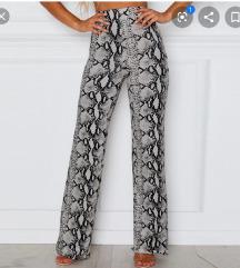 Popularne snake print zmijske pantalone