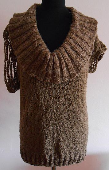 Asimetrican pulover dzemper