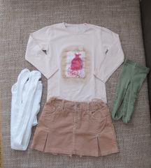 Komplet suknjica, majica i hulahopke