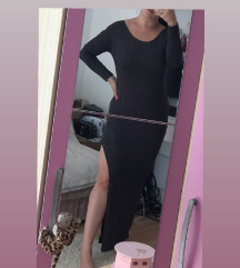 Duga svecana haljina, sa slicem na stranu