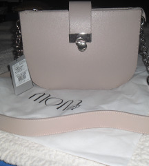MONA puder roze torba kozna nova