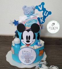 Torta od pelena Mickey Mouse
