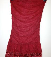 Cipkana crvena haljina