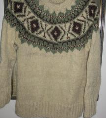Etno skijaški džemper od domaće vune