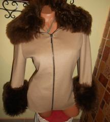 GIANFRANCO FERRE original jakna prirodno krzno M