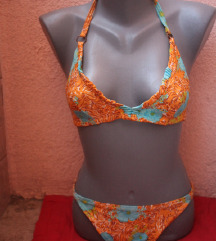 Vintage bikini 02 - narandžasto, tropik