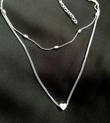 Dupla ogrlica SRCE