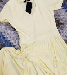 Zuta plisirana Reserved haljina