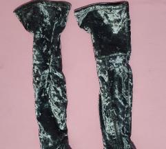 Potpuno nove čizme preko kolena od pliša