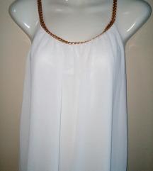 Bela asimetricna haljina