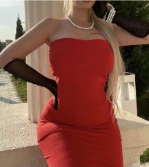 Crvena elegantna sirena haljina