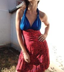 Plavo crvena haljina