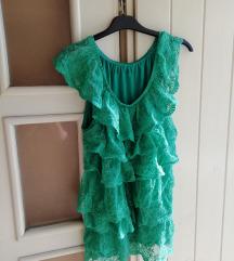 Zelena cipkasta bluza 38