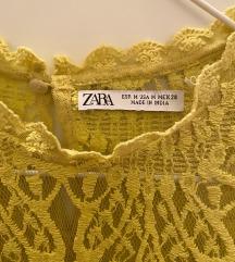 Zara končana čipkana bluza