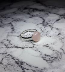 Prsten rozenkvarc