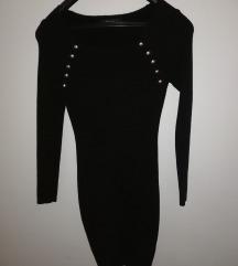Crna haljinica trikotaza