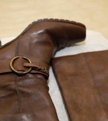Braon kožne čizme