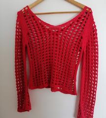 Crveni elegantni džemper povoljno