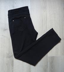 Crne i teget uske pantalone M