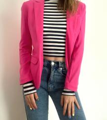 H&M struktirani pink sako - snizen na 1600