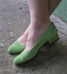 GIANNI GREGORI Italy zelene kožne letnje cipele