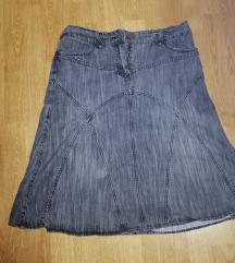 Siva teksas suknja