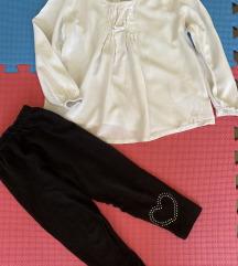 Bela košuljica 92  i helanke crne 92