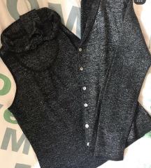 Komplet svetlucavi majica/jaknica