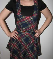 Škotski dezen haljina na tregere-postavljena