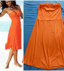 Neon top midi haljina sa elastinom S/M Snizena
