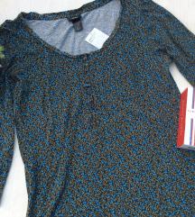 H&M haljina,pamučna,dug rukav Nova
