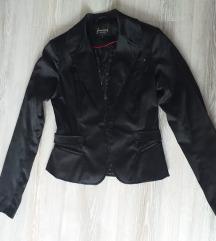Crni saten sako/jakna