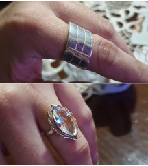 Srebrno prstenje Novo 1500din.kom.