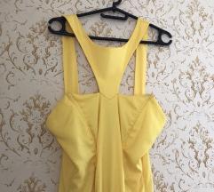 Žuta duga haljina