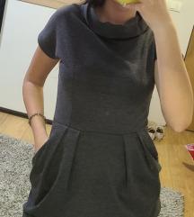 Kratka siva haljina