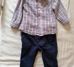 Pantalone h&m košuljica c&a