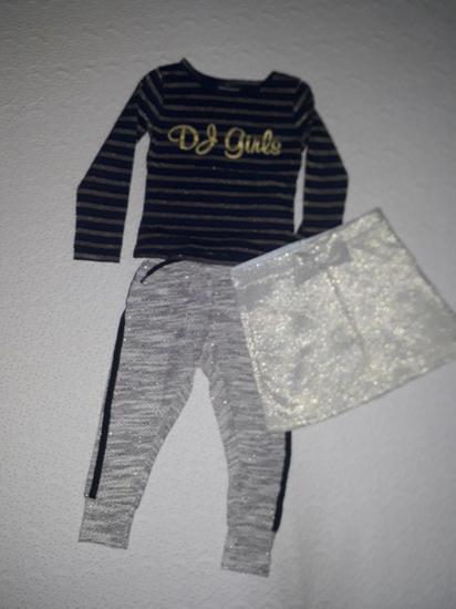Komplet pantalonice i bluzica,suknjica poklon
