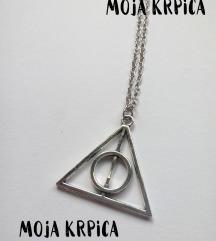Hari Poter geometrijski trougao ogrlica