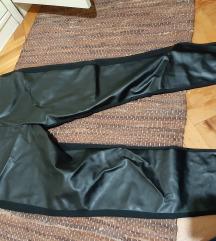 Crne kozne pantalone