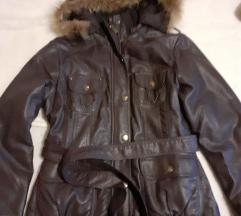 Zimska jakna od vestacke koze