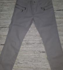 ZARA gumirane pantalone 38