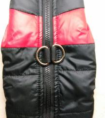 Crno crvena jakna za pse S  NOVO