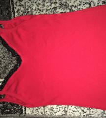 Crvena majica sa cipkom