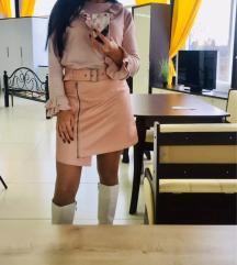 Kozna roze suknjica